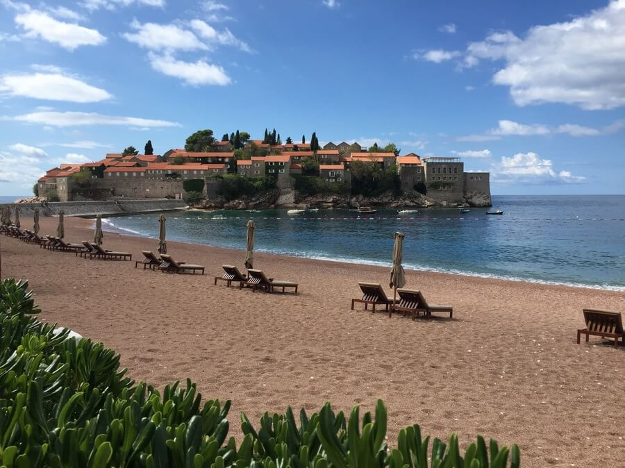 Sveti Stefan on the Budva Riviera in Montenegro