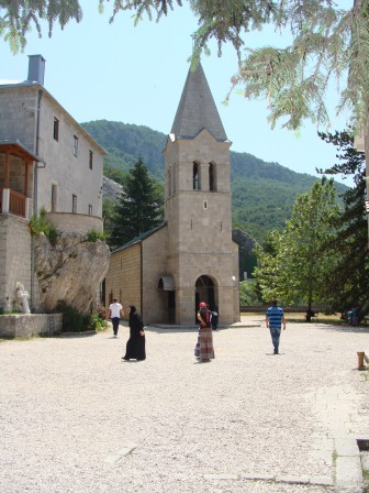 The lower monastery at Ostrog