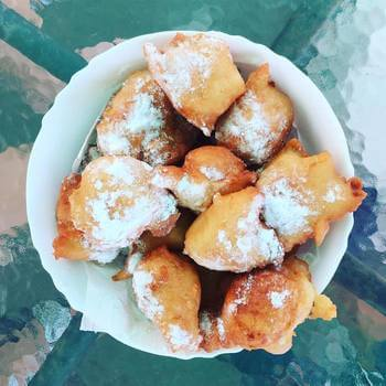Priganice, fried dough balls, are a local specialty in Montenegro