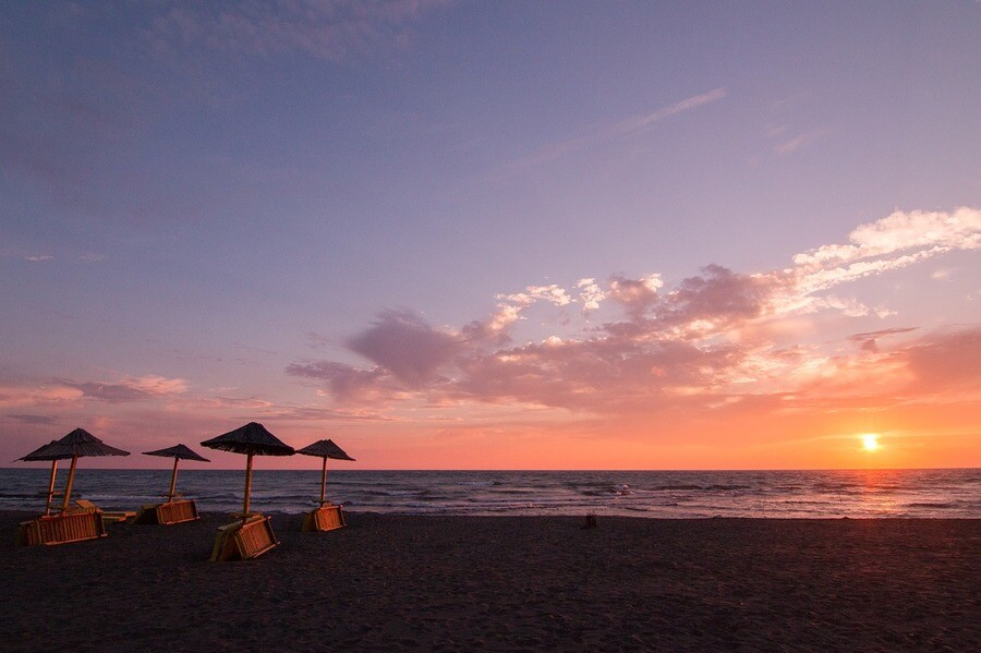 Ulcinj's Velika Plaza (Long Beach) is a long stretch of sandy beach that attracts everyone from backpackers to kite surfers to celebs like Rita Ora and Lewis Hamilton.