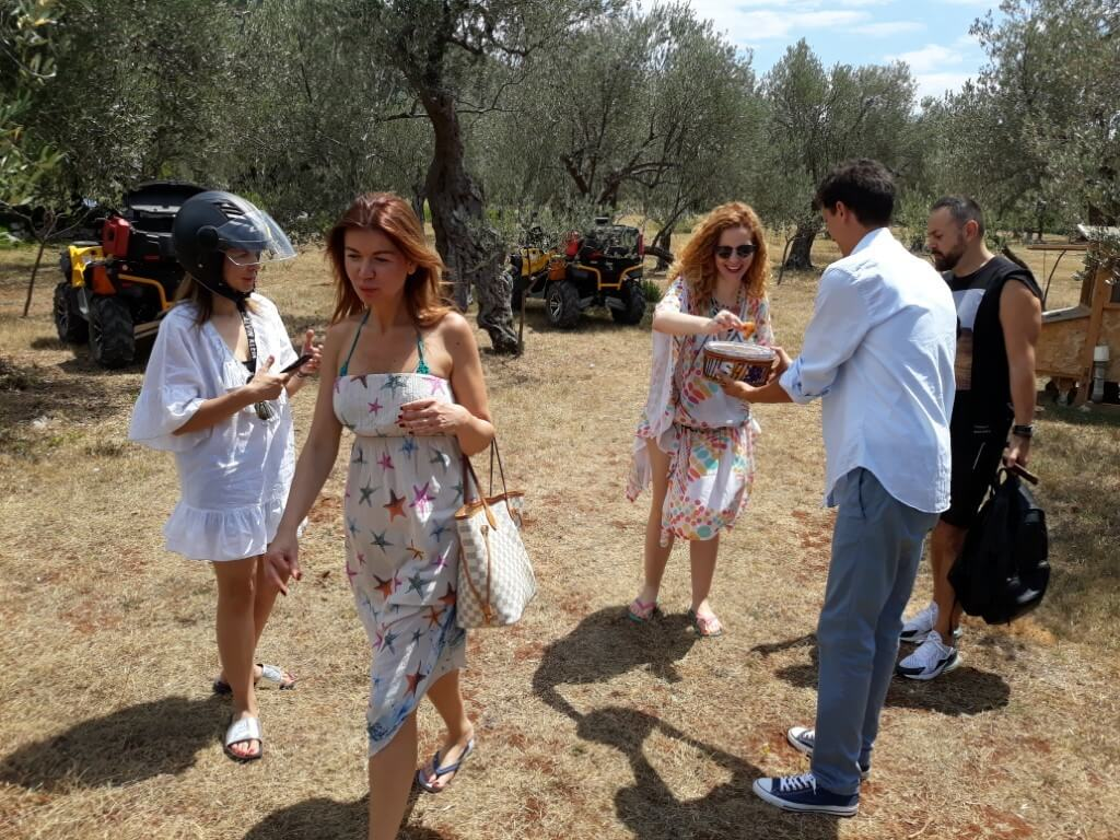 ATV and gastro tour at an olive mill on Lustica Peninsula in Montenengro