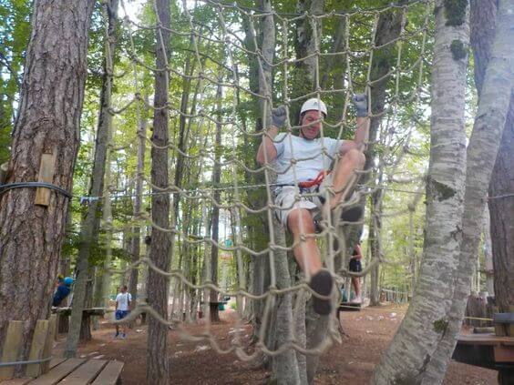 The Adventure Park ropes course on the Active Family Montenegro Holiday