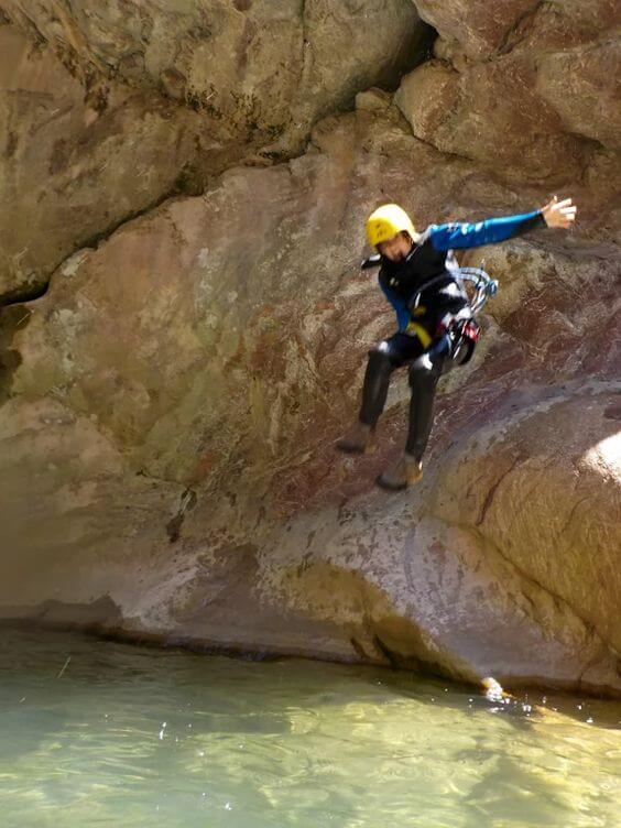 Canyoning in Rikavac Canyon on the Active Family Montenegro Holiday
