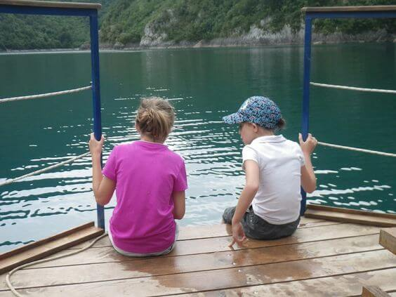 Cruising on Piva Lake on the Active Family Montenegro Holiday