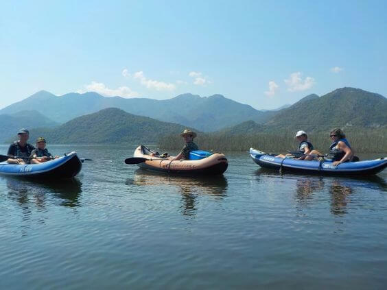 Kayaking on Lake Skadar on the Active Family Montenegro Holiday