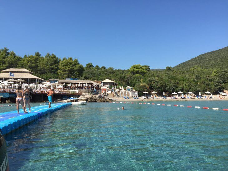 Lustica Almara Beach Club on Oblatno Beach