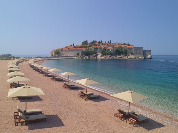 Aman Hotel Sveti Stefan: 5 star luxury in Montenegro on a 15th century island.