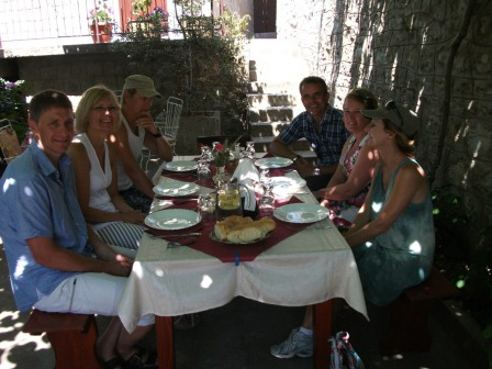 Guests enjoy a Montenegrin platter