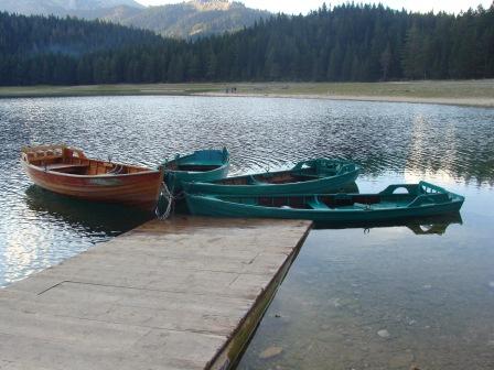 Boats on Black Lake in Zabljak