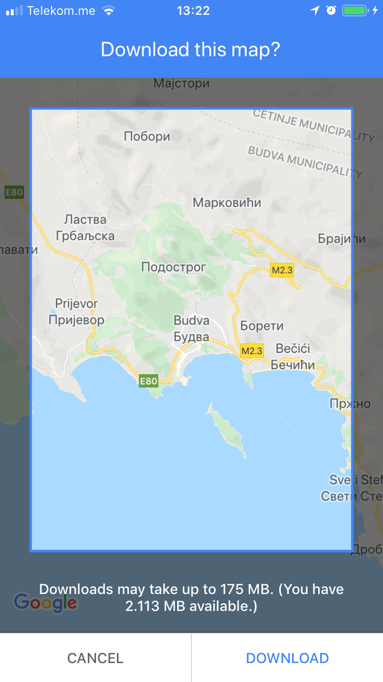 How to download a Budva Map on Google Maps