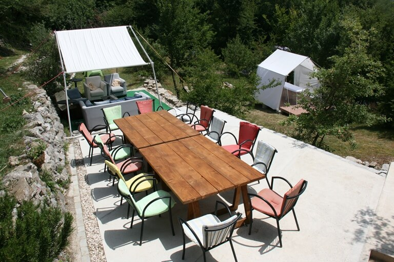 Camp Full Monte Outdoor seating