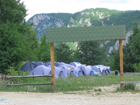 Tents at the rafting camps
