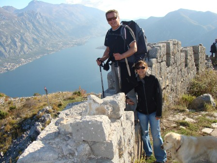 Us and Simba above Perast