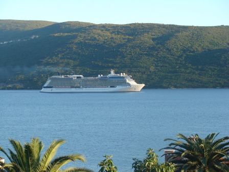 Cruise ship in the Bay of Kotor