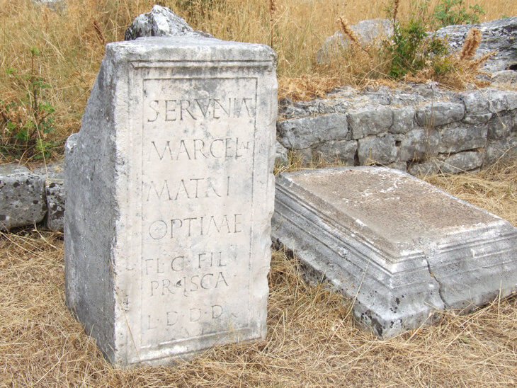 Doclea or Duklija is a 2,000 year old ruined Roman town on the outskirts of Podgorica, Montenegro.