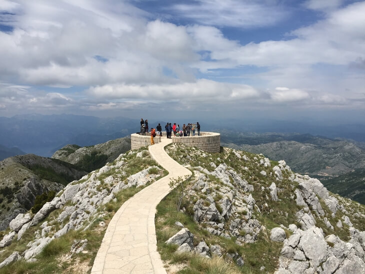 360 viewing circle on Mount Lovcen gives you views of almost all of Montenegro.