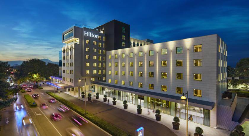 The Hilton Podgorica is one of two 5 star hotels in Podgorica, Montenegro