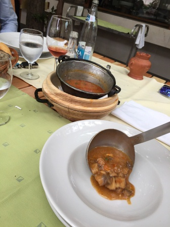Veal soup in Montenegro