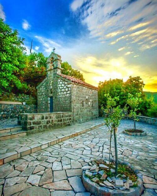Lustica Peninsula's Sveti Sava church