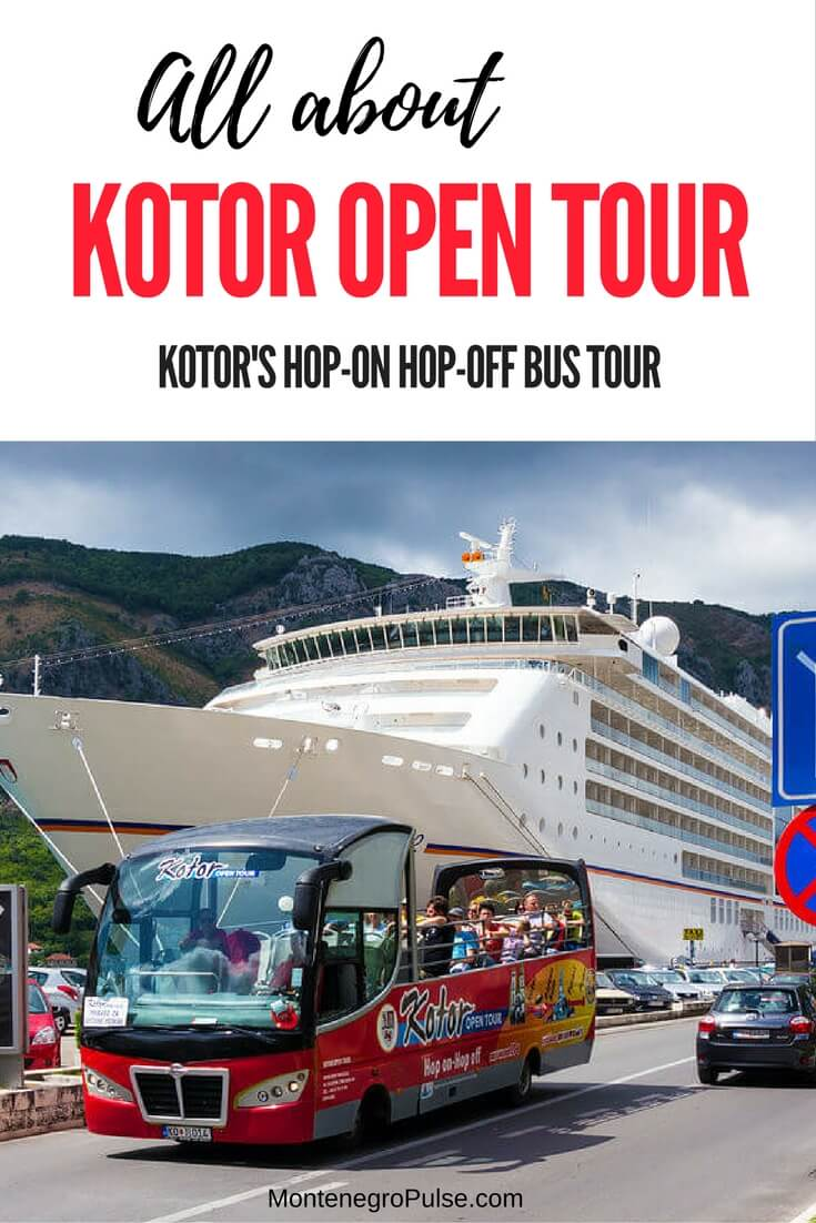 Kotor Open Tour is the hop-on hop-off bus tour in Kotor, Montenegro. It's a great way to see the highlights of the Bay of Kotor when you only have a day in Kotor.