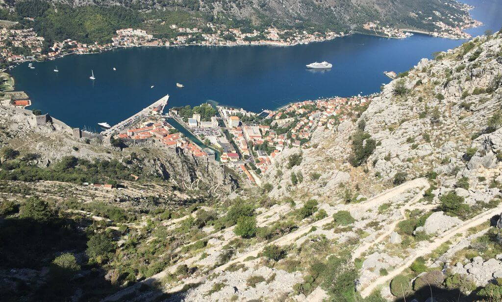 The Ladder of Kotor is an old path connecting Montenegro's old royal capital, Cetinje, with Kotor on the coast. It's a popular walk and offers incredible views.