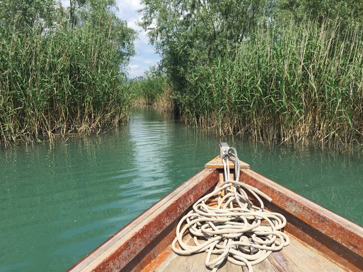 Lake Skadar boat cruises - the only way to do is in a traditional cun boat that can navigate the secret canals.