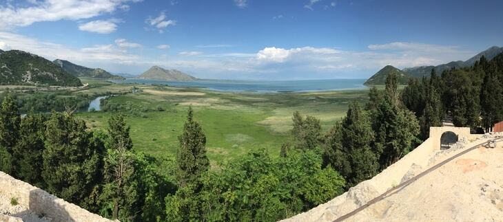 Lake Skadar and Virpazar from Besac Fortress