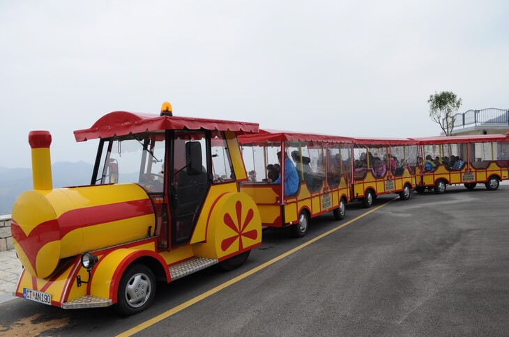 The train that takes you to the entrance of Lipa Cave, just outside of Cetinje in Montenegro.