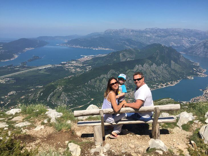 The best photo stop in Lovcen National Park overlooking the Bay of Kotor in Montenegro