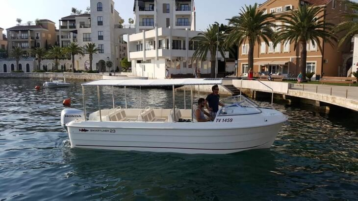 The Lustica Water Taxi is the fastest and most enjoyable way to get from Tivat to the outer Lustica Peninsula beaches and hamlets.