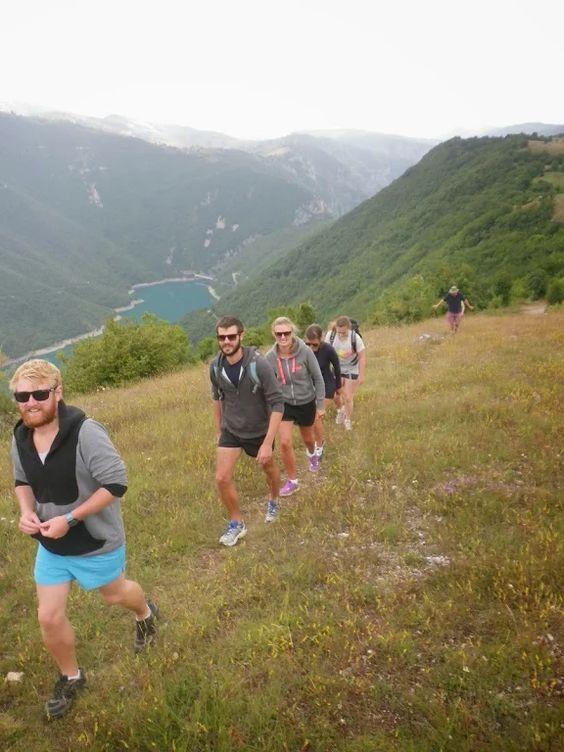 Hiking around Piva Lake in Montenegro