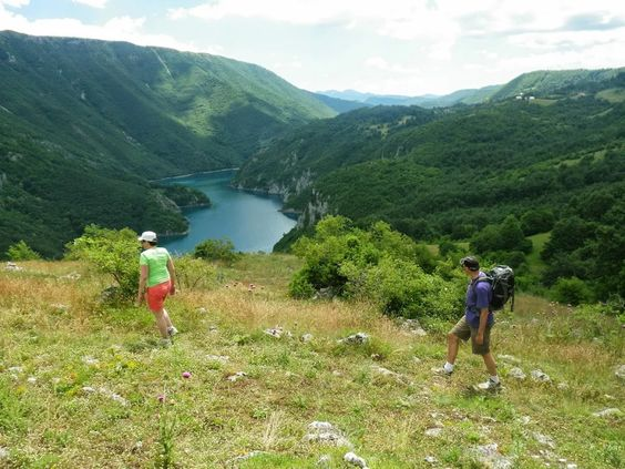 A relaxed hike around Piva Lake in Montenegro is part of the 2 day Activity Break package.