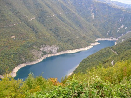 Piva Lake is the stunning backdrop for the 2 day Activity Break in Montenegro.