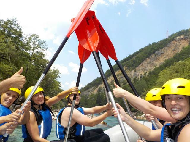 Rafting in Tara Canyon in Montenegro on the 2 Day Adrenaline Break.