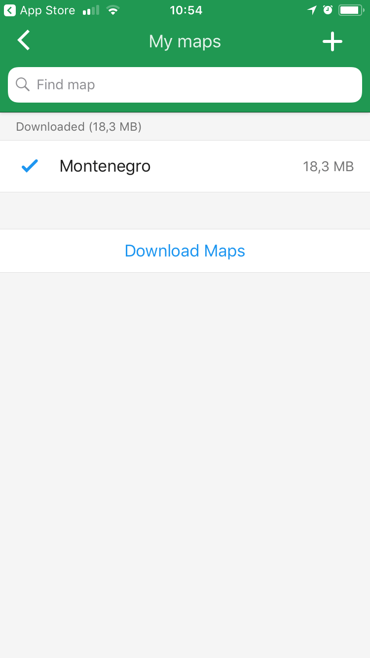 Map of Montenegro in Maps.me