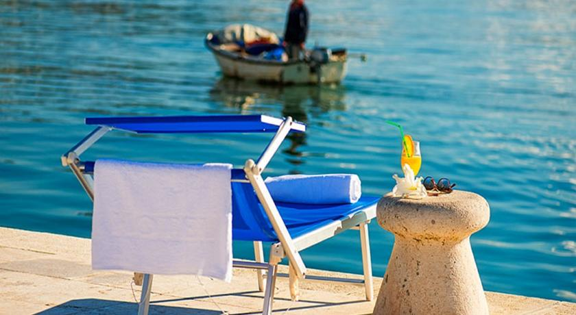 Lounger and boat in Herceg Novi