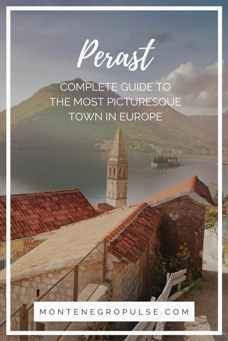 Perast in the Bay of Kotor in Montenegro is one of the most picturesque towns in Europe. The UNESCO Heritage town is full of stone palaces and churches. A must see in Montenegro!