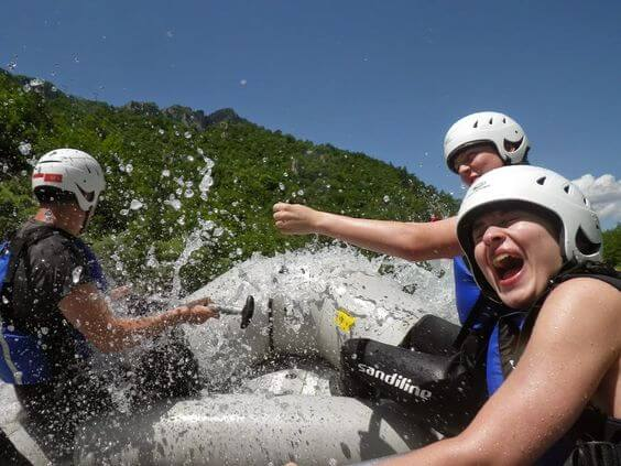 Rafting in the Tara Canyon in Montenegro.