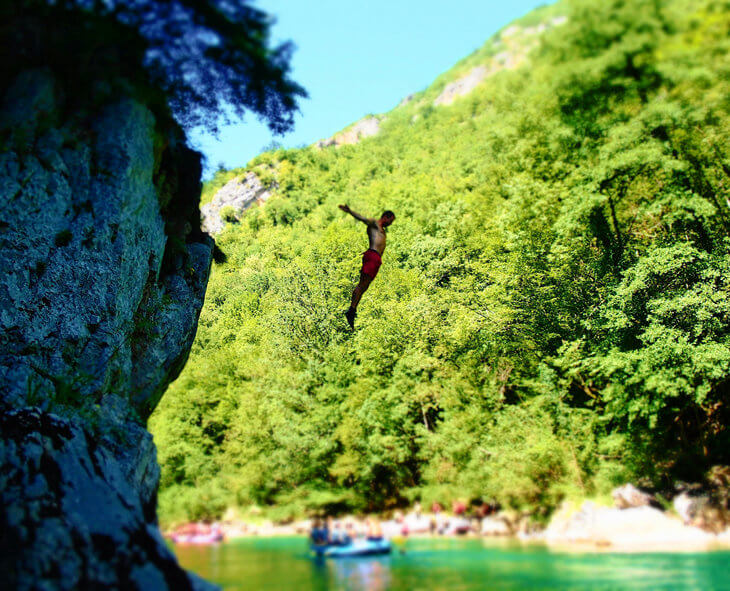 Go rafting in Montenegro's Tara Canyon. See some of the country's most stunning scenery on a white water rafting tour.