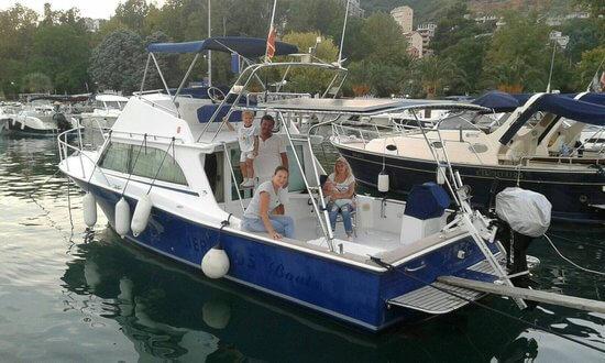 Rent a boat in Montenegro. Explore the stunning Budva Riviera and Sveti Nikola island on this boat available from Budva.