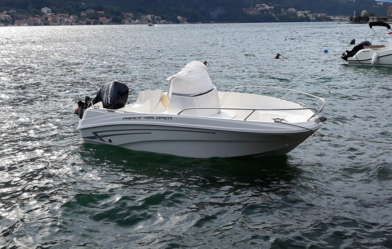 Rent a boat Montenegro - Prince 495 Open available for charter in the Bay of Kotor.
