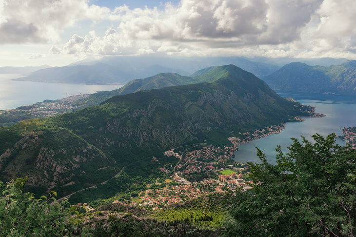 Vrmac Ridge separates Kotor and Tivat bays. It's perfect for hiking, biking and picnics.
