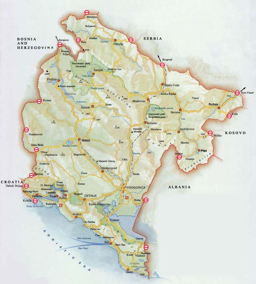 Map - Montenegro maps with countries