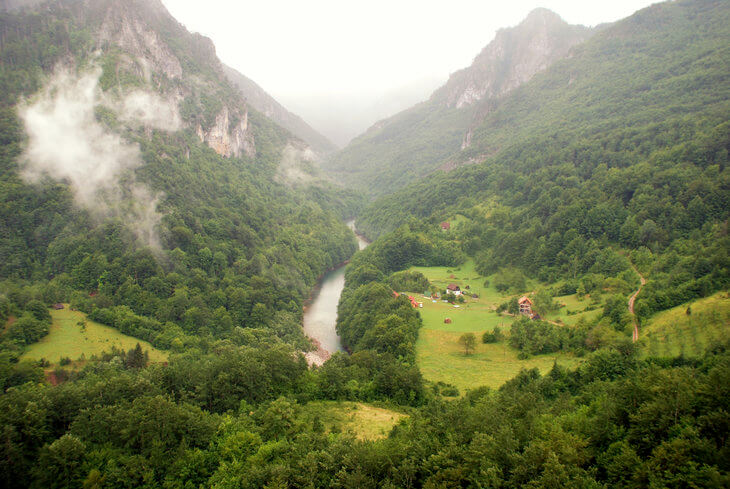 Montenegro mountains tara canyon