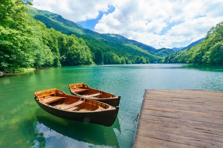 Lake Biograd in Biogradska Gora National Park, Montenegro