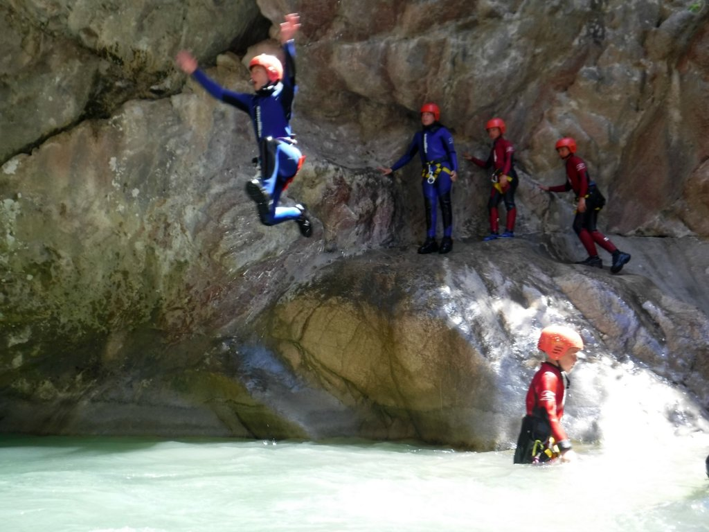 Canyoning on an adventure holiday in Montenegro is fun for the whole family!