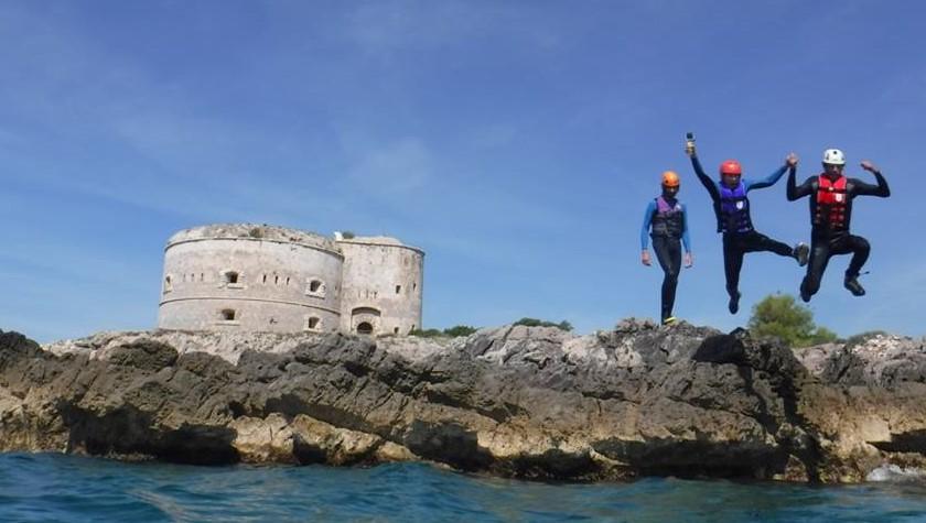 Coasteering on the Montenegro coast is a fantastic adventure!