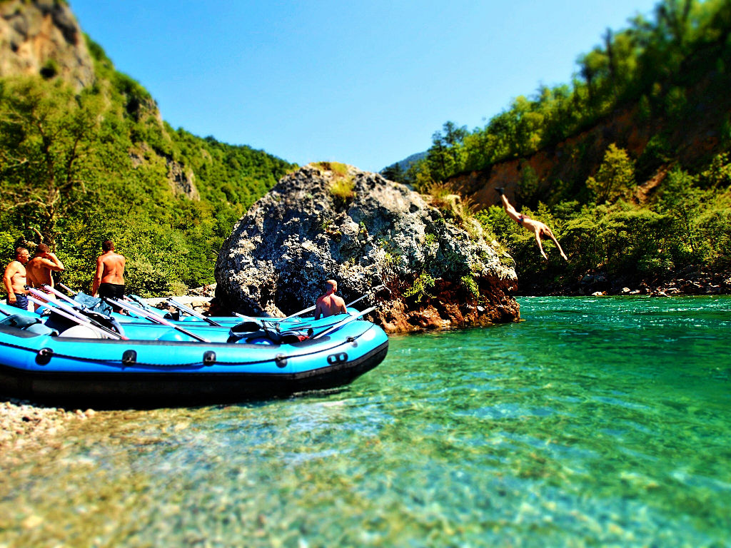 Rafting in the Tara Canyon is one of the most popular things to do in Montenegro.