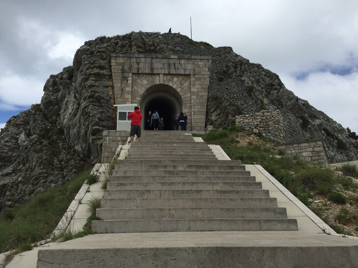 The path up to Petar Petrovic Njegos' mausoleum on Mount Lovcen has 461 steps