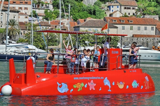 The semi-submarine is one of the best Kotor tours for families with young kids. Forget the boring tours and hours in a van, take them on something they'll really love!